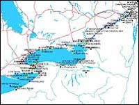 Seaway Vessel Locations