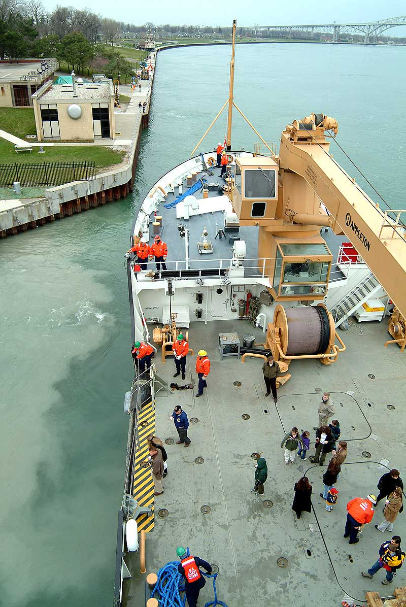 Cruise Ship Engine Control Room: Departing The Dock For A Cruise Down River